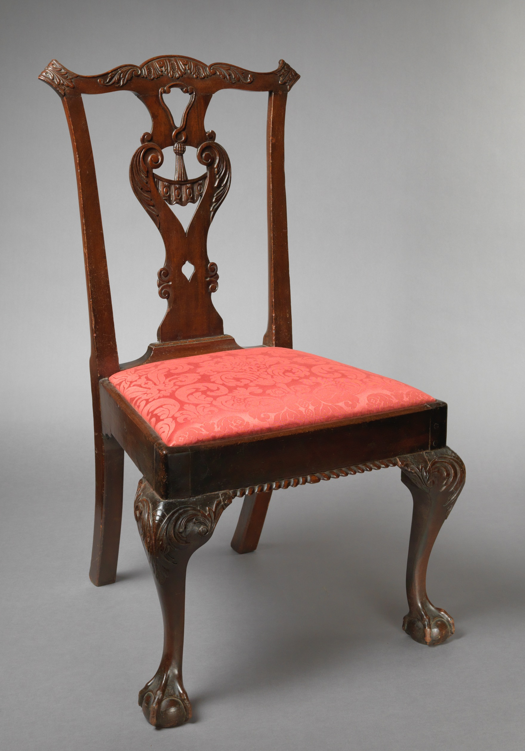 Carved Chippendale Side Chair With Claw And Ball Feet